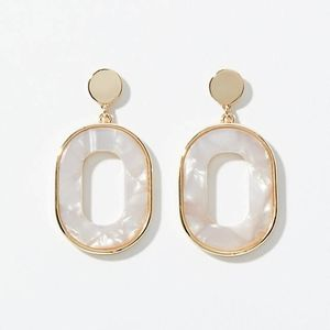 New Ann Taylor Loft Metallic Resin drop earrings